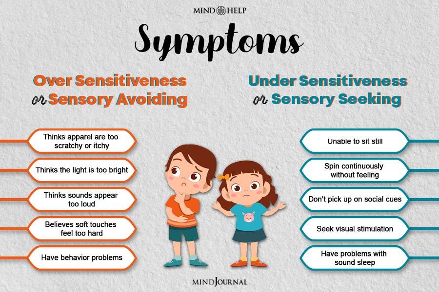 symptoms of over sensitiveness or sensory avoiding