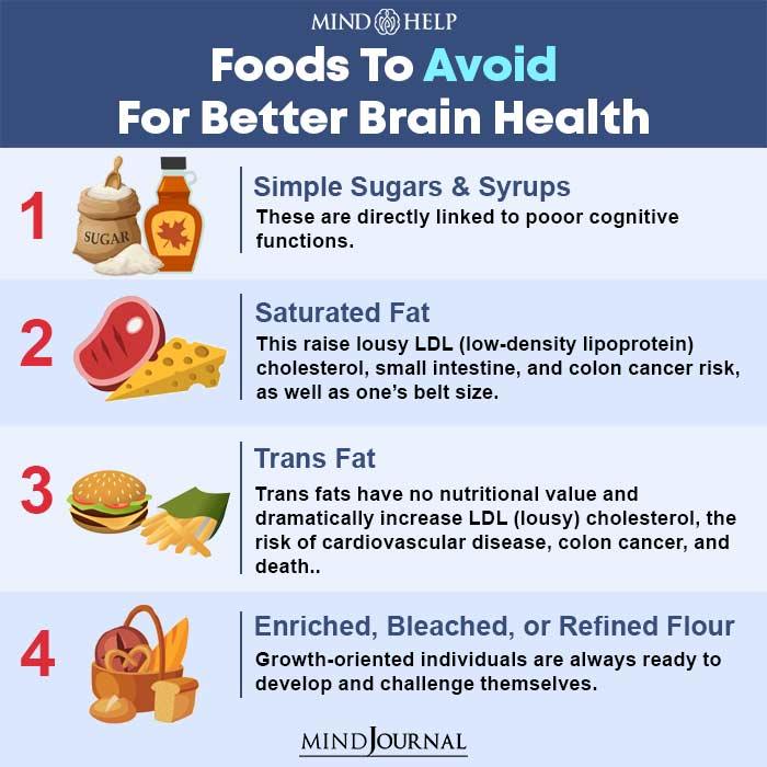 foods to avoid for better brain health