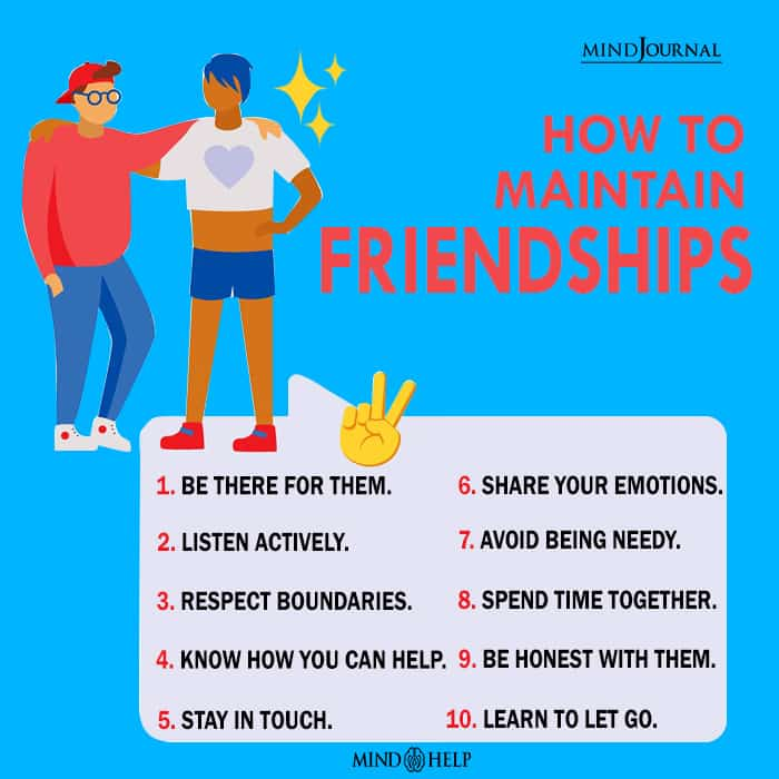 How To Maintain Friendships