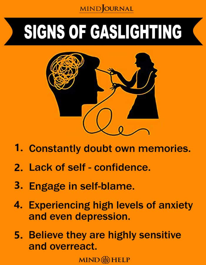Signs Of Gaslighting