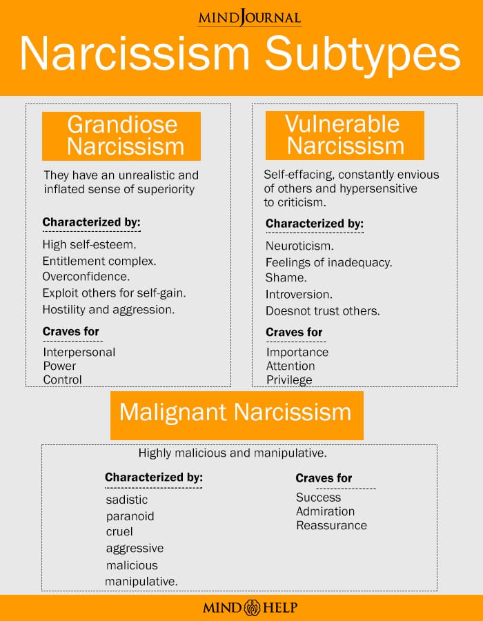 Types Of Narcissism