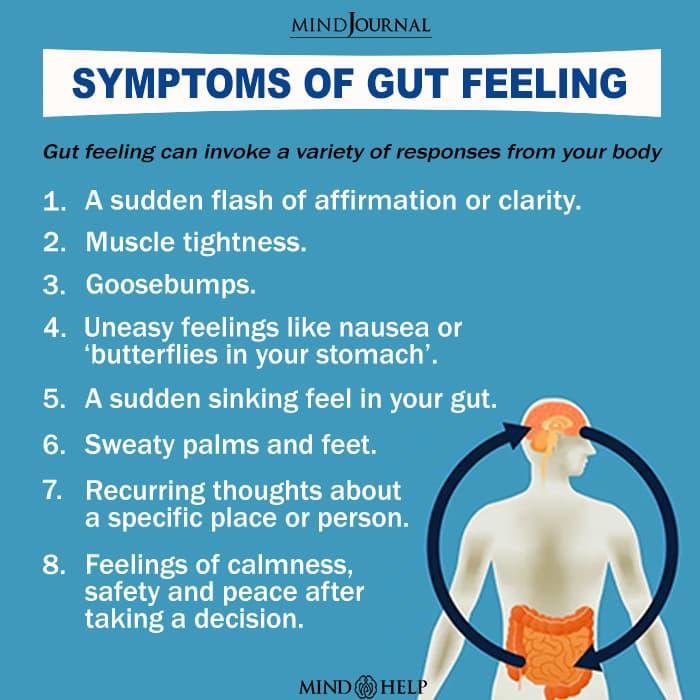 Symptoms Of Gut Feeling