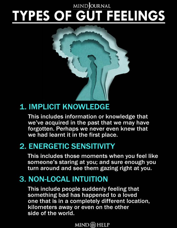 Types Of Gut Feelings