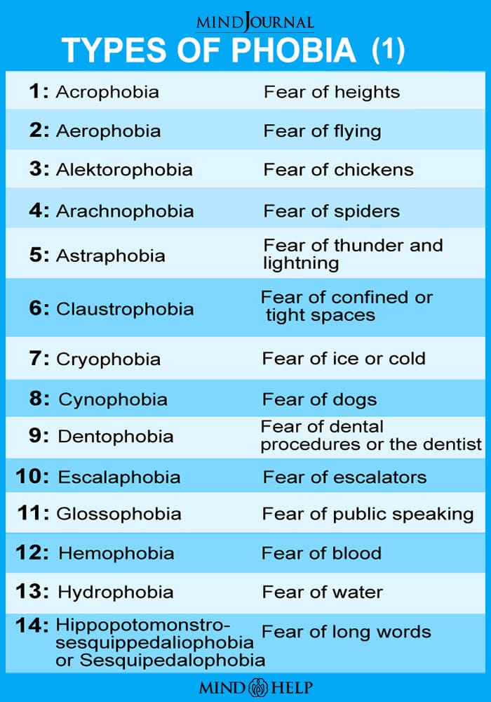 Types Of Phobia