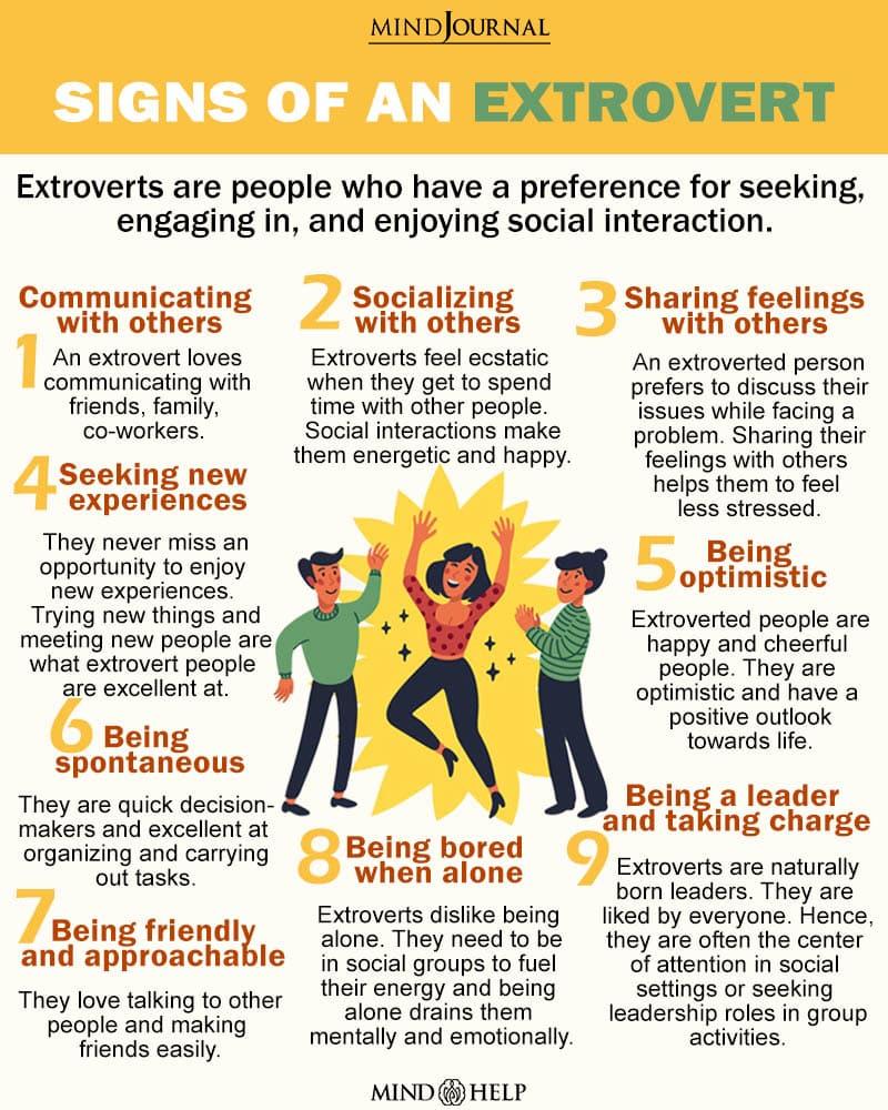 Signs Of An Extrovert