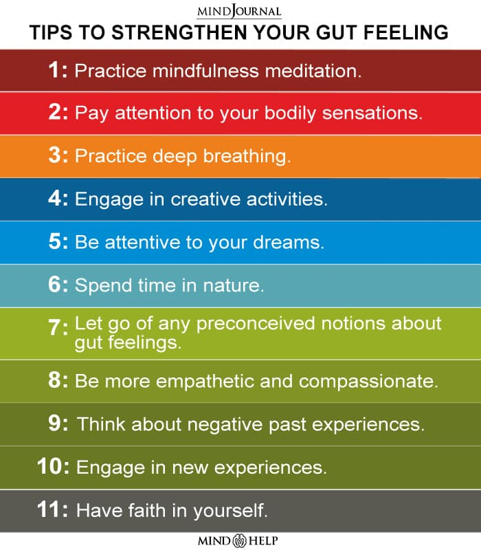 tips to strengthen your gut feeling