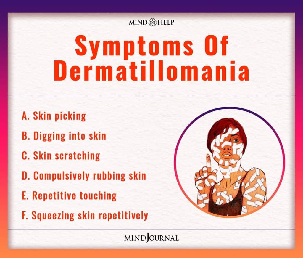 Symptoms Of Dermatillomania