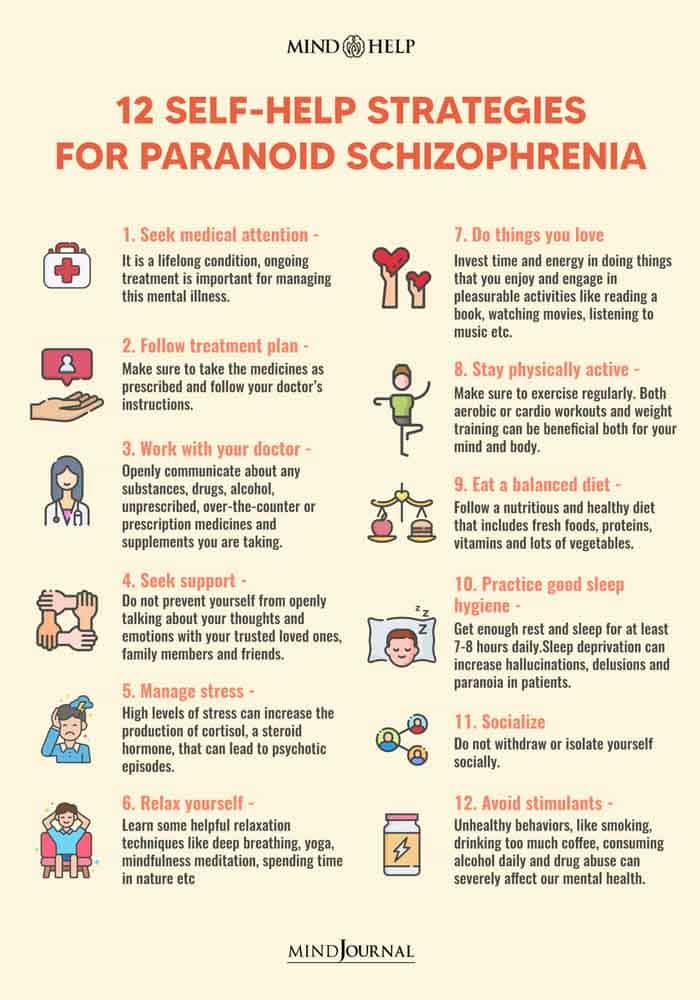 12 Self-Help Strategies For Paranoid Schizophrenia