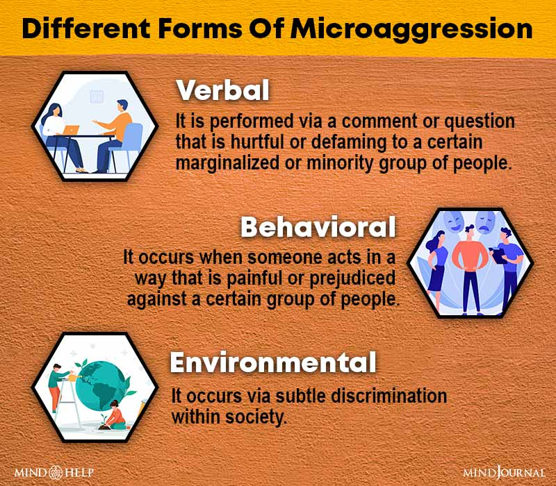Different Forms Of Microaggression