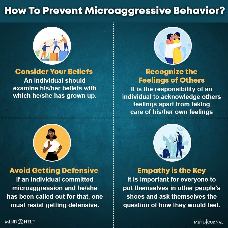 How To Prevent Microaggressive Behavior?