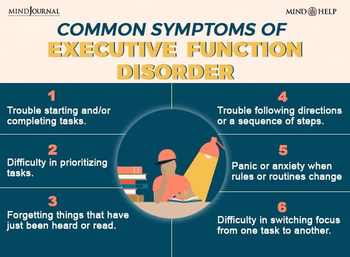 Symptoms Of Executive Function Disorder