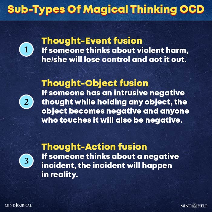 sub types of magical thinking ocd